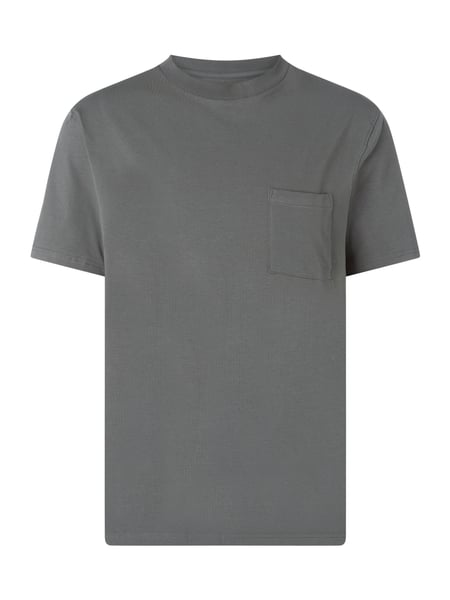 MCNEAL Loose Fit T-Shirt mit Brusttasche Modell 'Hopper' Grau - 1