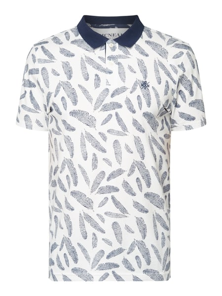 MCNEAL Poloshirt mit Allover-Muster Offwhite