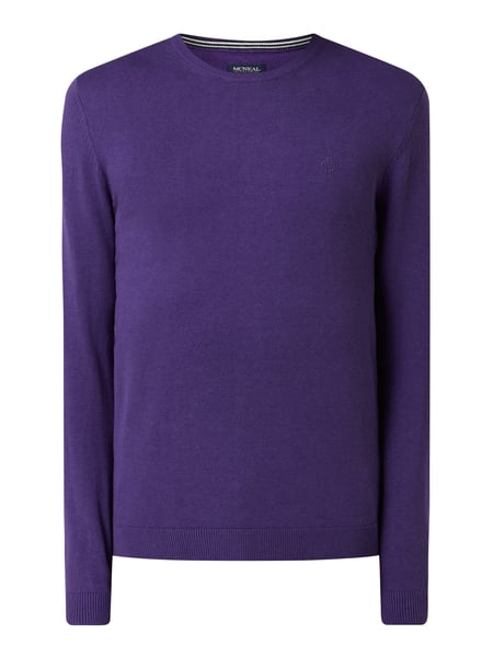 MCNEAL Pullover aus Organic Cotton Lila - 1