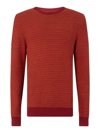 MCNEAL Pullover mit Streifenmuster Modell 'Liam' Rot - 1