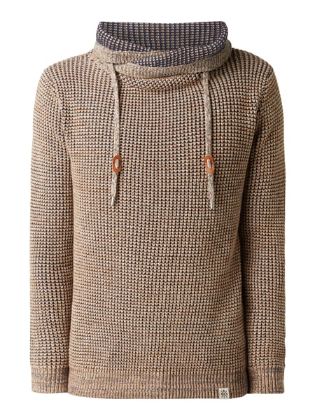 MCNEAL Pullover mit Tube Collar Sand