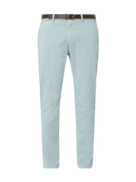 MCNEAL Regular Fit Chino mit Gürtel Blau / Türkis - 1