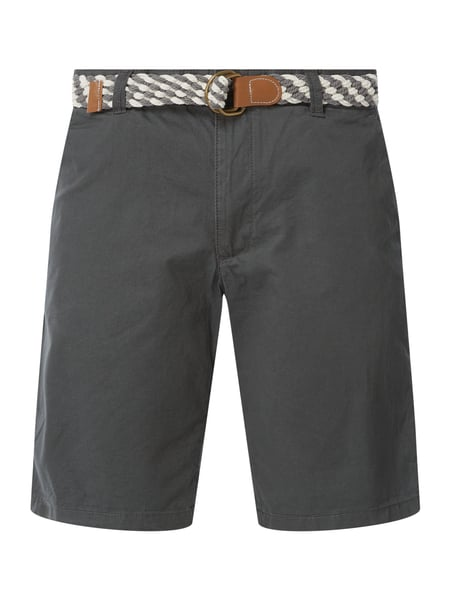 MCNEAL Regular Fit Chino-Shorts Modell 'Luca' Grau - 1