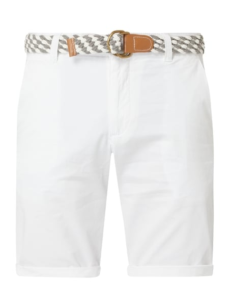 MCNEAL Regular Fit Chino-Shorts Modell 'Luca' Weiß - 1