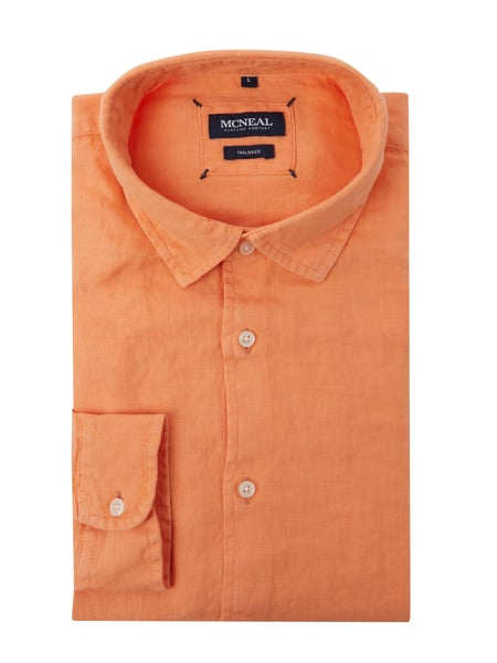 MCNEAL Regular Fit Leinenhemd Orange - 1