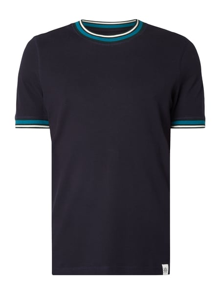 MCNEAL Regular Fit T-Shirt aus Piqué Blau - 1