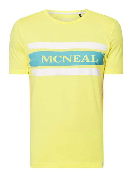 MCNEAL Regular Fit T-Shirt mit Logo-Print Gelb - 1