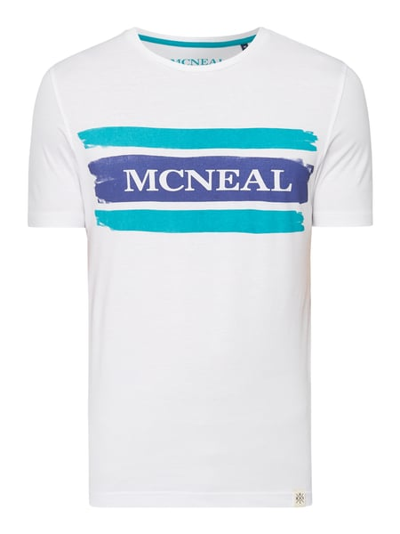 MCNEAL Regular Fit T-Shirt mit Logo-Print Weiß - 1
