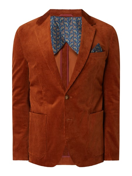 MCNEAL Slim Fit 2-Knopf-Sakko aus Cord Modell 'Max' Rot - 1