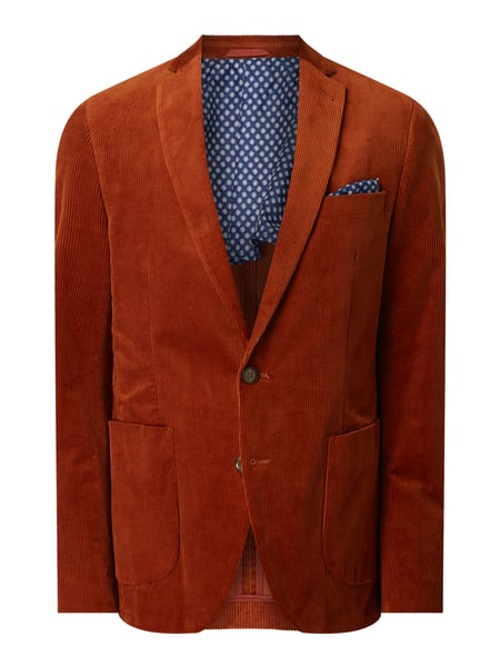 MCNEAL Slim Fit 2-Knopf-Sakko aus Cord Orange - 1