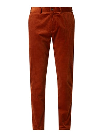 MCNEAL Slim Fit Anzughose aus Cord Orange - 1