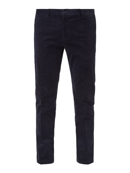 MCNEAL Slim Fit Chino aus Cord Blau - 1