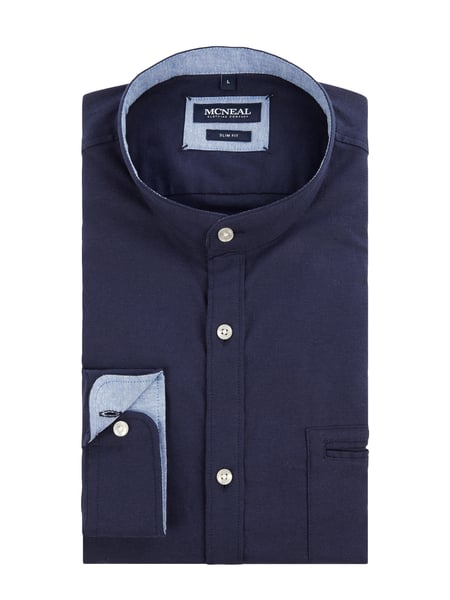 MCNEAL Slim Fit Freizeithemd aus Oxford Blau - 1