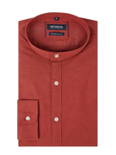 MCNEAL Slim Fit Freizeithemd aus Oxford Modell 'Aaron' Rot - 1