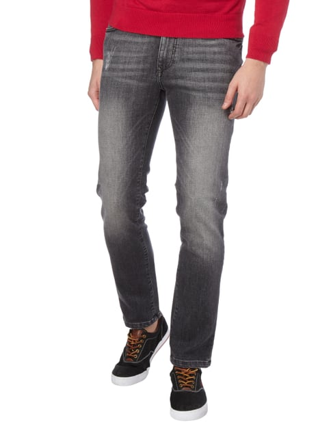 MCNEAL Slim Fit Jeans im Used Look Mittelgrau - 1