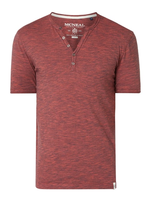 361214b135e3a5 MCNEAL Slim Fit Serafino-Shirt mit Streifenmuster Rot - 1 ...