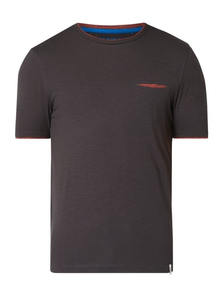MCNEAL Slim Fit T-Shirt mit Brusttasche Grau - 1
