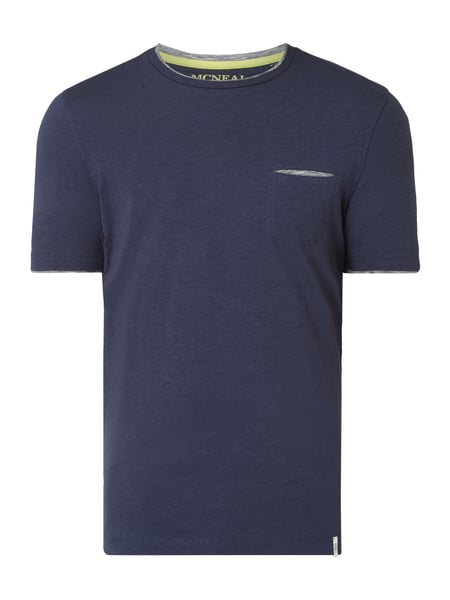 MCNEAL Slim Fit T-Shirt mit Brusttasche Blau - 1