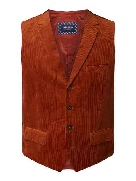 MCNEAL Slim Fit Weste aus Cord Orange - 1
