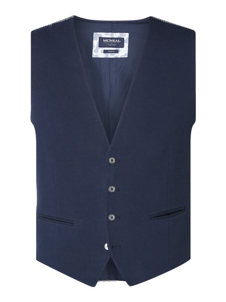 MCNEAL Slim Fit Weste mit Webstruktur Blau - 1