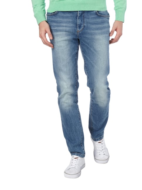 MCNEAL Stone Washed Slim Fit 5-Pocket-Jeans Bleu - 1