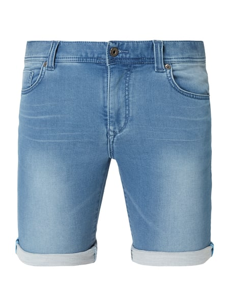 MCNEAL Stone Washed Slim Fit Jeansshorts Blau / Türkis - 1
