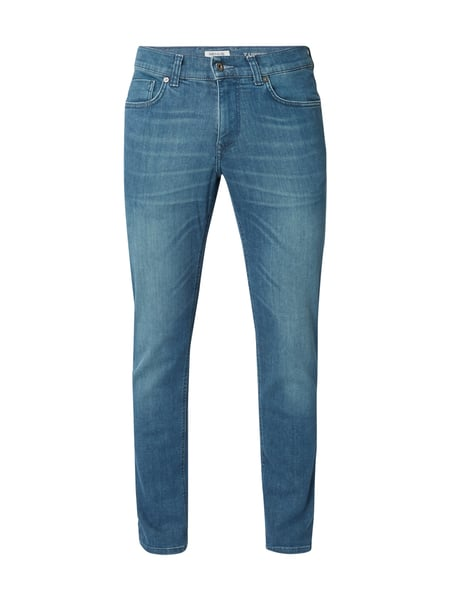 MCNEAL Stone Washed Tapered Fit Jeans Blau