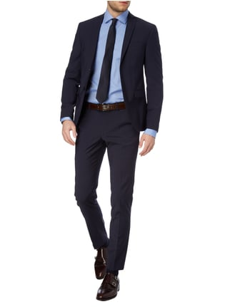 MCNEAL Super Slim Fit 2-Knopf-Sakko mit Stretch-Anteil in Blau / Türkis - 1