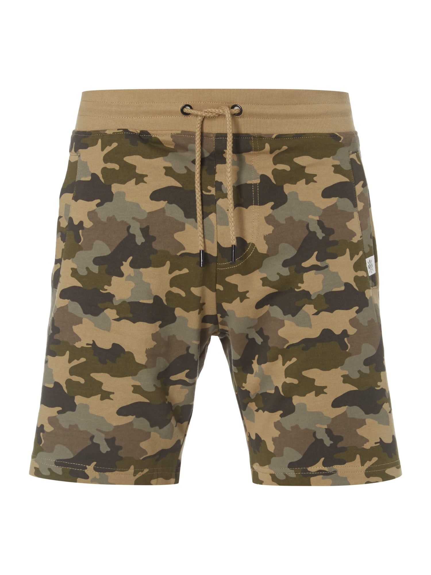 mcneal sweatshorts mit camouflage muster in wei online. Black Bedroom Furniture Sets. Home Design Ideas