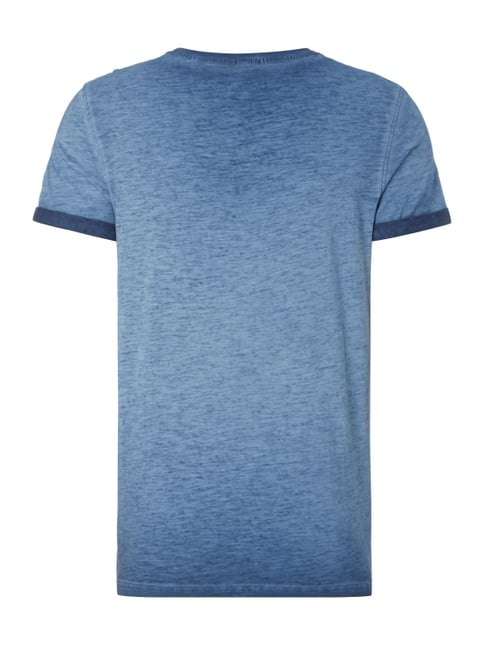 MCNEAL T-Shirt im Washed Out Look Marineblau - 1