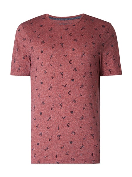MCNEAL T-Shirt mit Allover-Muster Hellrot