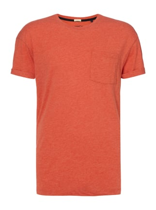 T-Shirt mit Brusttasche Orange - 1