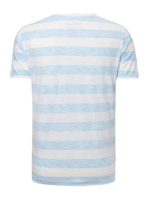 MCNEAL T-Shirt mit Inside-Out-Streifenmuster Himmelblau - 1