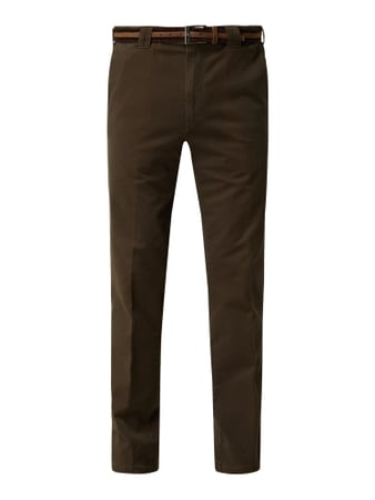 Meyer Comfort Fit Chino aus Baumwoll-Elasthan-Mix Grün - 1