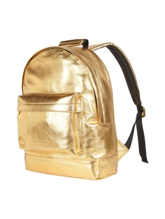 Rucksack in Metallic-Optik Gelb - 1