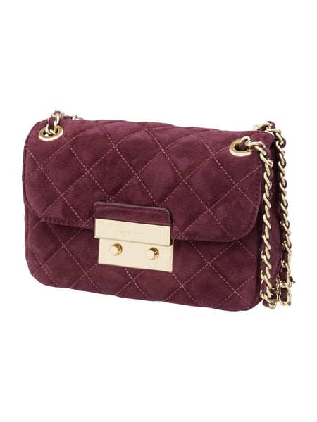 Crossbody Bag aus echtem Veloursleder Lila - 1