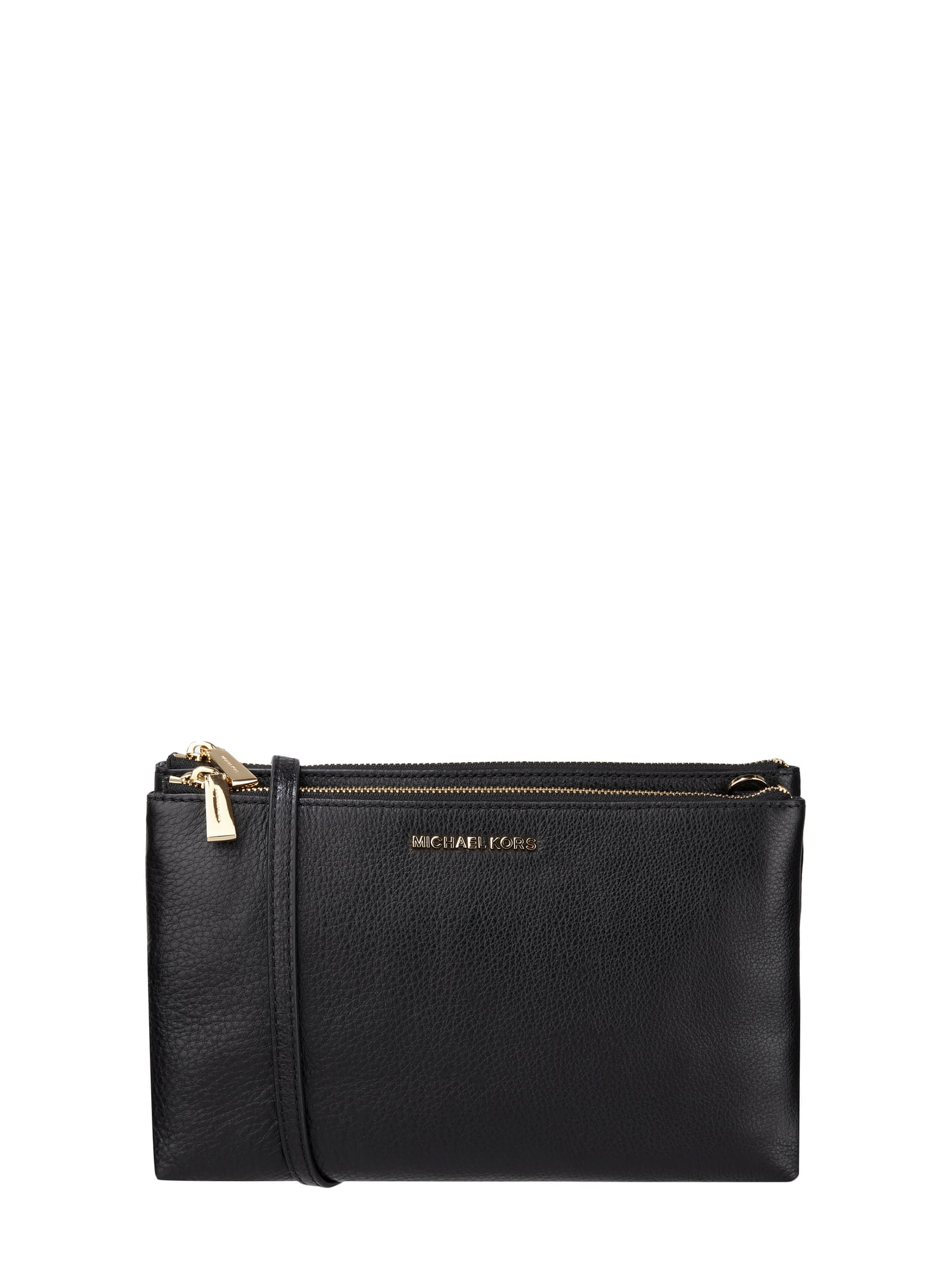 michael michael kors crossbody bag mit zwei rei verschlussf chern in grau schwarz online. Black Bedroom Furniture Sets. Home Design Ideas