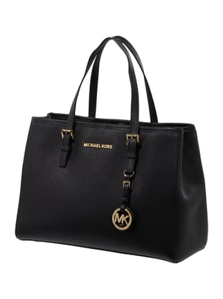 michael michael kors handtasche aus saffianoleder schwarz 9560406. Black Bedroom Furniture Sets. Home Design Ideas
