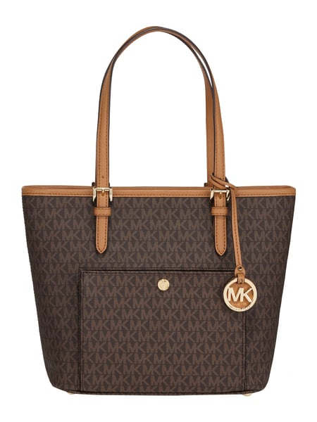 michael michael kors handtasche mit logo muster in braun. Black Bedroom Furniture Sets. Home Design Ideas