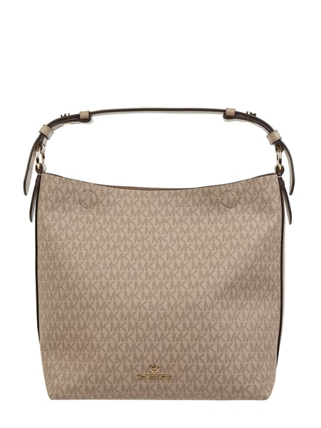 MICHAEL Michael Kors Hobo Bag mit Logo-Muster Modell 'Lucy' Beige - 1