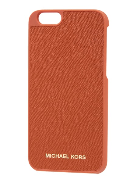 2423c7868b8789 MICHAEL-MICHAEL-KORS iPhone 6 Case aus Saffianoleder in Orange ...