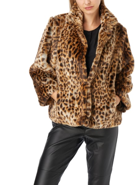 michael michael kors jacke aus webpelz mit leopardenmuster in braun online kaufen 9706965 p c. Black Bedroom Furniture Sets. Home Design Ideas