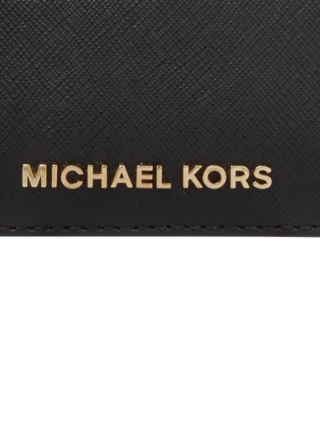 michael michael kors kartenetui aus saffianoleder in grau schwarz online kaufen 9560489 p c. Black Bedroom Furniture Sets. Home Design Ideas