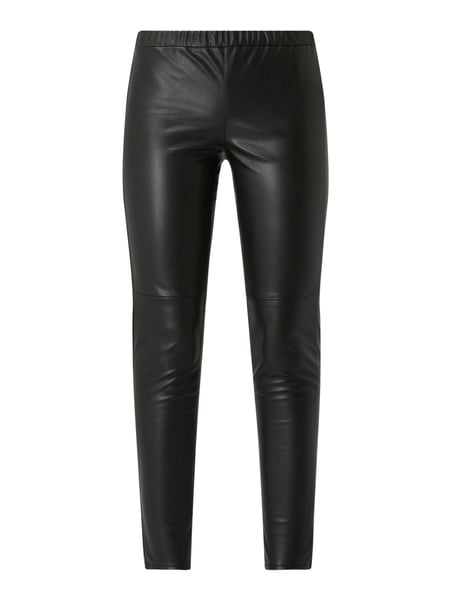 MICHAEL Michael Kors Leggings in Leder-Optik Schwarz - 1