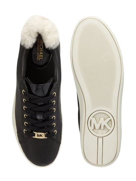 michael michael kors plateau sneaker aus leder in grau schwarz online kaufen 9695233 p c. Black Bedroom Furniture Sets. Home Design Ideas