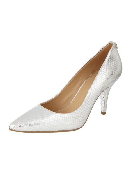 Leder-Pumps in Metallic-Optik