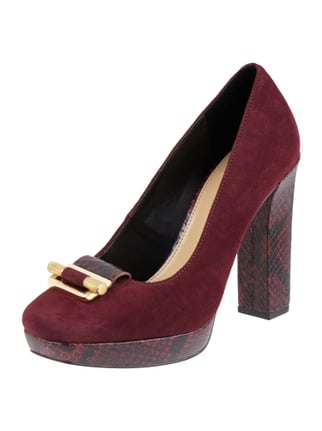 Pumps aus Veloursleder Rot - 1