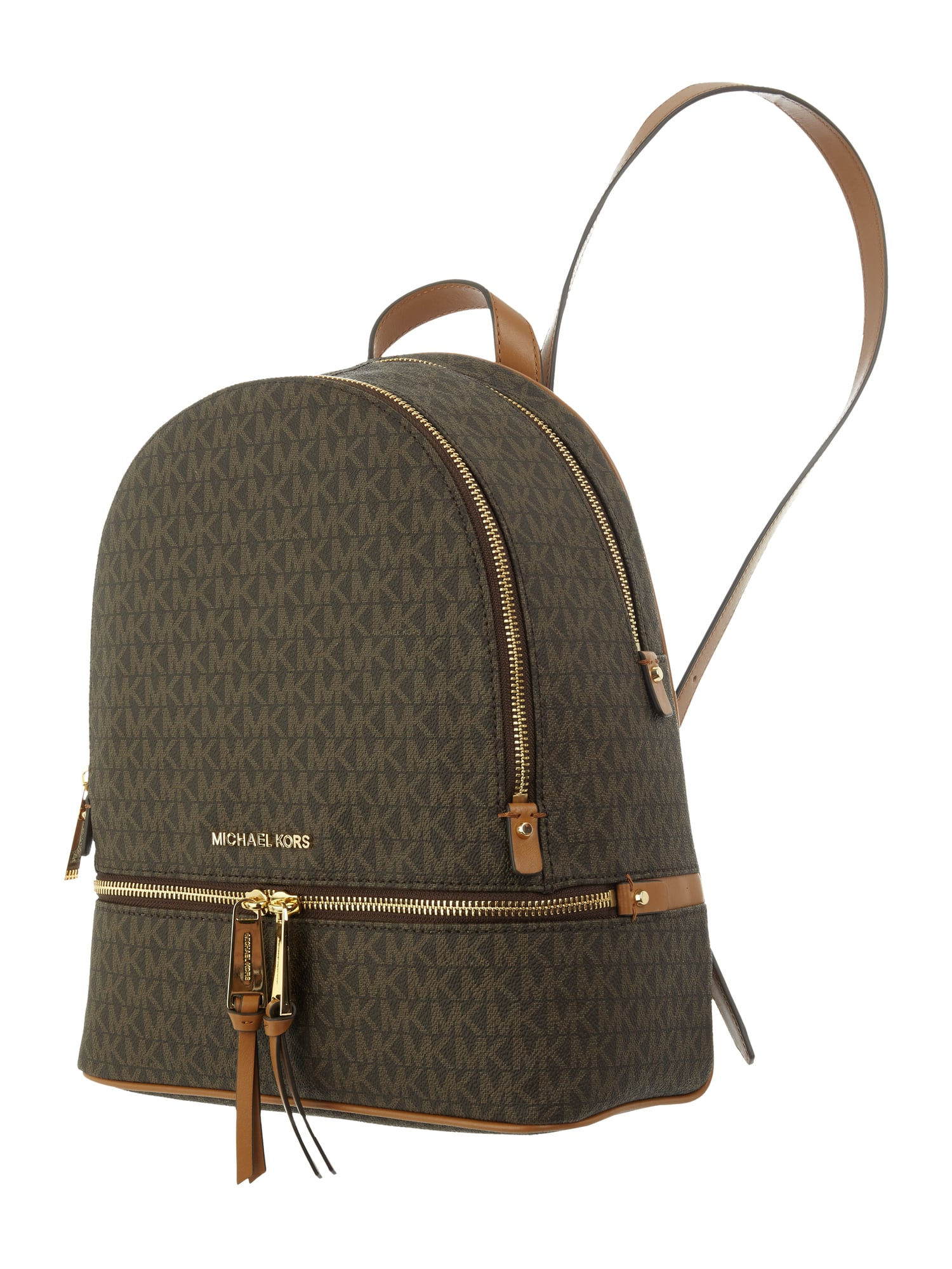 michael michael kors rucksack mit logo muster in braun online kaufen 9655538 p c online shop. Black Bedroom Furniture Sets. Home Design Ideas