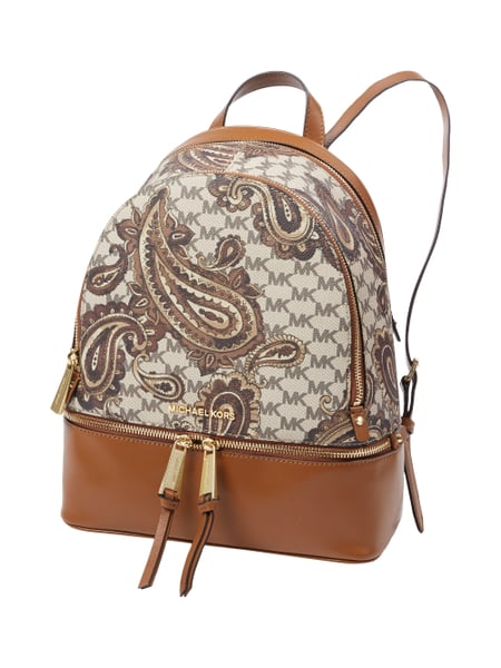 michael michael kors rucksack mit paisleymuster und logo details in braun online kaufen 9532956. Black Bedroom Furniture Sets. Home Design Ideas