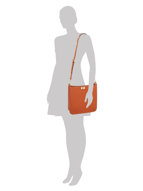 MICHAEL Michael Kors Shopper aus Saffianoleder in Orange - 1